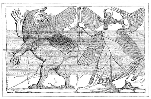 Marduk luchando contra Tiamat. Fuente: Wikipedia